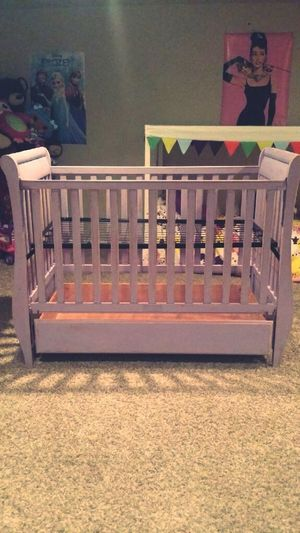 Crib I painted for my daughter that will be joining the Bouzakisfamily Bouzakis February 27th Enjoying Life Country Chic Greek Greece Babygirl Baby Furniture