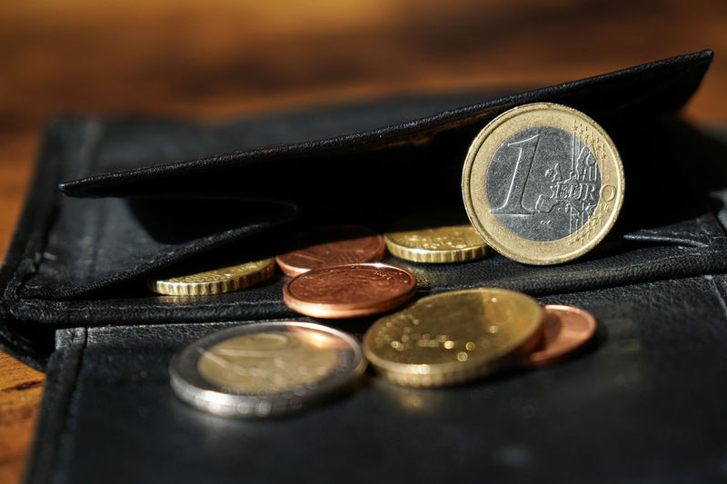 Finance Coin Wealth Business Currency Savings Close-up Selective Focus Indoors  Economy Still Life No People Investment Finance And Economy Wallet Euro Euros Coins Cents  Small Change