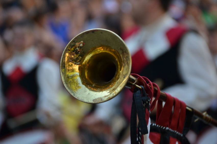 Musical Instrument Music Arts Culture And Entertainment Wind Instrument Focus On Foreground Trumpet Close-up Outdoors Musician Day Giostra Cavalleresca Sulmona Corteo Storico EyeEm Selects