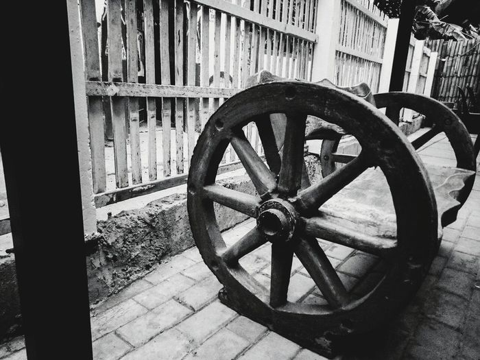 No People Wheel Chair Blackandwhite Outdoors Day Random Photography Vintage