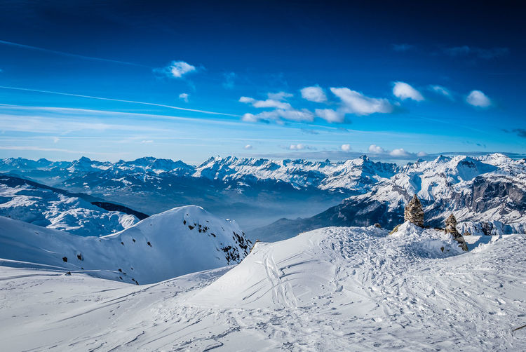 Winter Cold Temperature Mountain Scenics - Nature Snow Sky Beauty In Nature Tranquil Scene Tranquility Non-urban Scene Cloud - Sky Mountain Range Blue Environment Landscape Snowcapped Mountain Nature White Color Day No People Mountain Peak