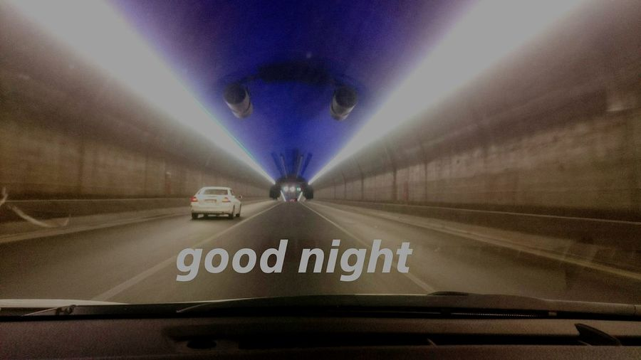 Latenight Fun , so GN Goodnight all 🙋 Tunnel Tunnel Vision Tunnel View City Lights Time To Bed .... From My Point Of View