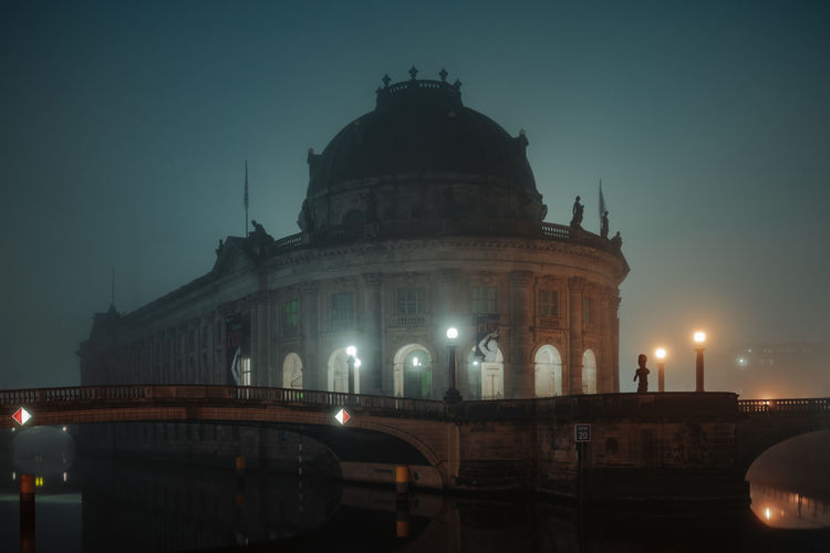 Bode-Museum in foggy night Architecture Berlin Berlin Photography Bode Museum Bode-museum Bridge Bridge - Man Made Structure City Dome Fog Foggy Night Government Illuminated Museum Museum Island Museumsinsel Night No People Outdoors Travel Travel Destinations