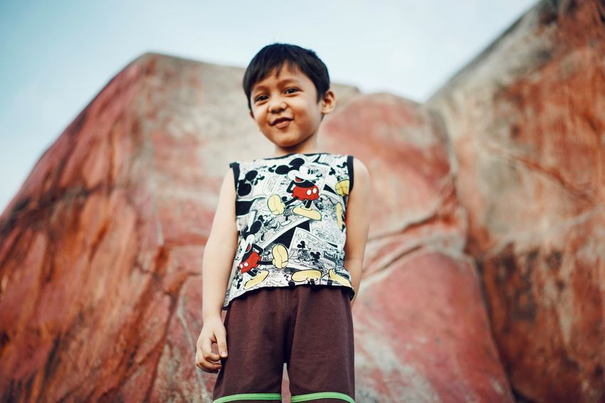 just smiling Kidsphotography Kids Being Kids Kids EyeEmNewHere Playing Sky Child Portrait Smiling Childhood Males  Boys Looking At Camera Happiness Standing Rural Scene Only Boys Brown Eyes Preschooler One Boy Only Schoolboy The Portraitist - 2018 EyeEm Awards