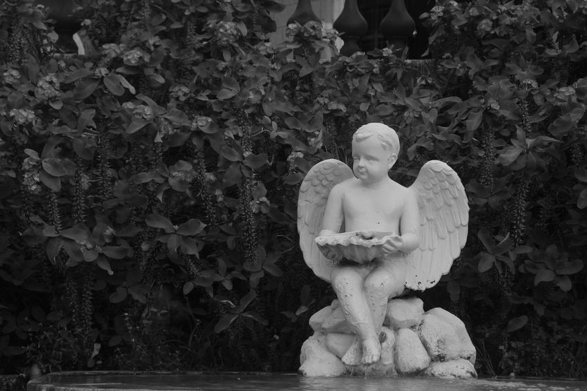 Monochrome Sculpture Religious Statues Religious Art Religion Human Representation Day No People Outdoors Nature Close-up