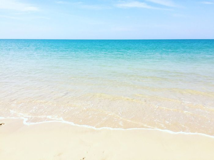 Sea Water Beauty In Nature Scenics Horizon Over Water Beach Nature Sky No People Day Wave Outdoors Sand Traveling Phangnga Thailand Blue Blue Sky Blue Wave Blue Sea Blue Water Blue Background Shades Of Blue