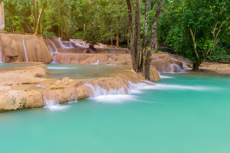 Water Tree Scenics - Nature Plant Beauty In Nature Nature Tranquility Tranquil Scene No People Day Waterfront Land Motion Sea Long Exposure Outdoors Travel Destinations Non-urban Scene Flowing Flowing Water Turquoise Colored Hot Spring Power In Nature Swimming Pool