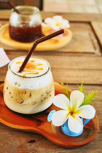 Coffeebreak Lovely Sweet Food Delicious Coffee - Drink Icecoffeelatte Freshness Food And Drink Food Sweet Food Drink Table Still Life Flowering Plant Flower Focus On Foreground