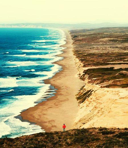 Sea Beach Sand Horizon Over Water Water Sunset Beauty In Nature
