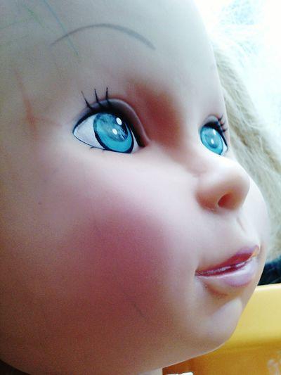 Doll Face Blue Eyes Plastic