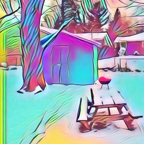 Snow Winter Snow Xmas Chirstmas New Year Multi Colored Chair No People Day Outdoors EyeEmNewHere EyeEm Ready