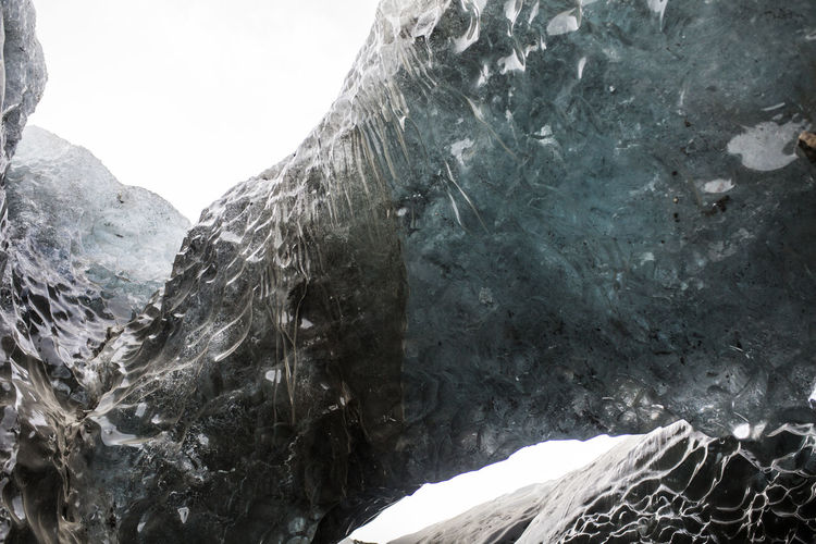 Ice Iceland Winter Beauty In Nature Blue Cave Cliff Close-up Cold Temperature Day Geology Iceberg Mountain Nature No People Outdoors Physical Geography Rock - Object Rock Formation Scenics Sea Textured  Water