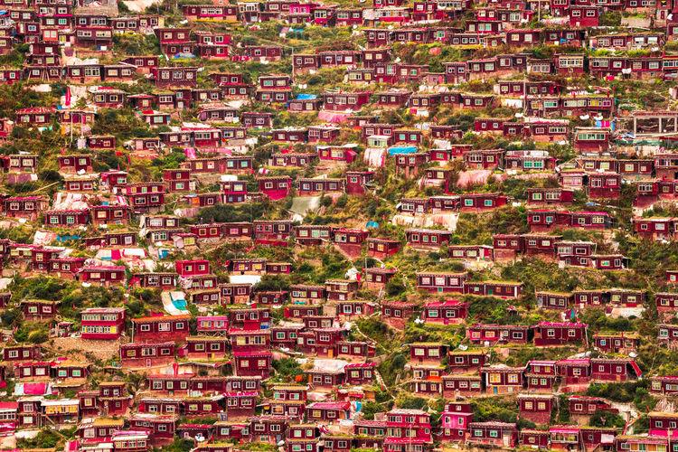 Full frame shot of slum