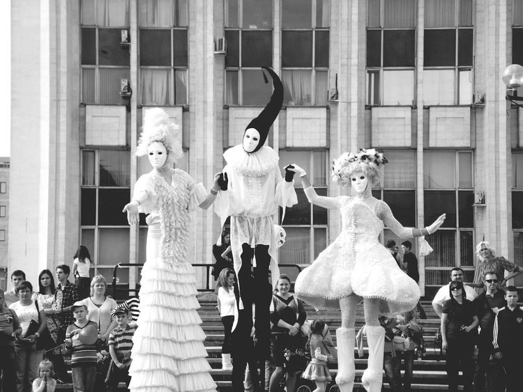 Blackandwhite Street Theatre Enjoying Life My Best Photo 2014