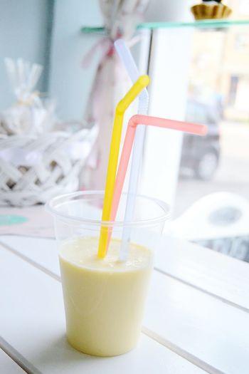 Juice Juicing Smothie Smoothie Fruit Fruity Banana Smoothie Straws Sweet Cute Fresh