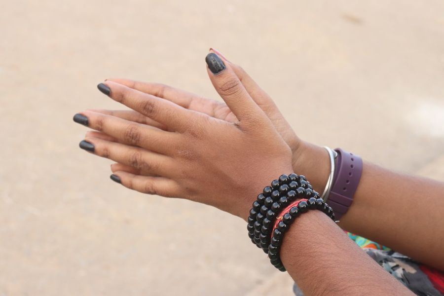 EyeEm Selects Human Hand Human Body Part Hand One Person Bracelet Women Real People Nail Polish Lifestyles Jewelry Personal Accessory Focus On Foreground Ring Personal Perspective Day Finger Nail Close-up Body Part Adult