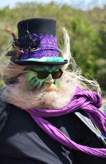 Jack In The Green Festival Jack In The Green Hastings May Day 2017 May Day East Sussex Mauve  Color Excentric Spooky Human Face Close-up Celebration Cultures Arts Culture And Entertainment Full Frame Pagan Festival Performing Arts Event Performance Market Green Color Growth Purple Live For The Story The Portraitist - 2017 EyeEm Awards