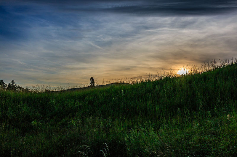 Sonnenuntergang in Rheinfelden, Mai 2016