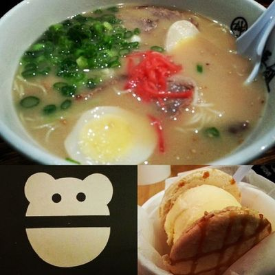First time eating ramen at Shin Sen Gumi and ice cream macaron at snow monster!! Thanks for taking me @dlbanana :)