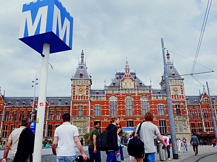 Public Transportation Metro Amsterdam Architecture Blue Central Subway Architecture_bw Building Vacation