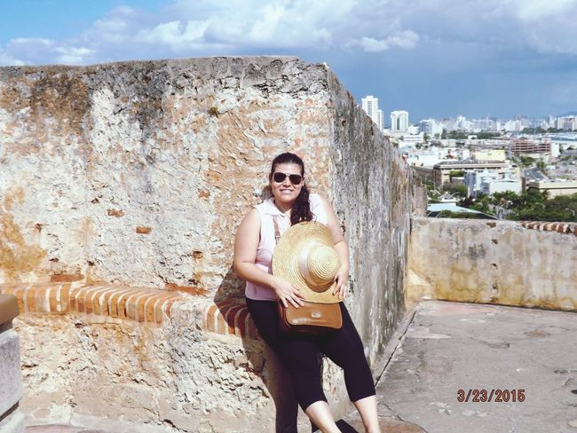 Fort San Cristobal EyemPuertoRico The Old San Juan That's Me Arquitecture Color Portrait Cheese! Sun Light