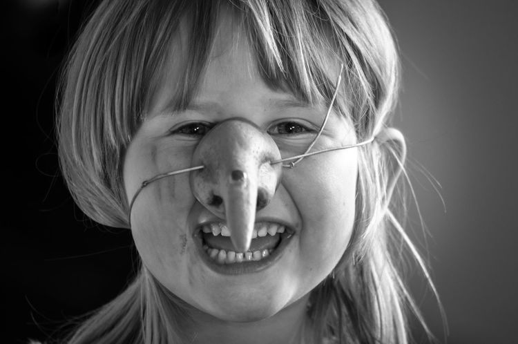 Black And White Photography Black Background Blackandwhite Blond Hair Child Childhood Children Only Close-up Facial Expression Girls Halloween Happy Headshot Human Face Human Head Laughing Mask Monochrome One Girl Only One Person People Portrait Witch