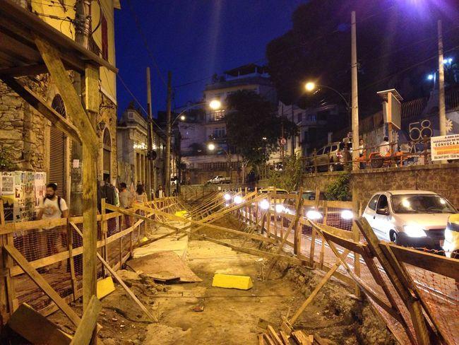 Obras do Bonde de Santa Teresa Rio De Janeiro Brazil Under Construction... Obra