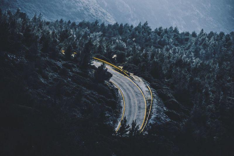 Empty Road On Mountain