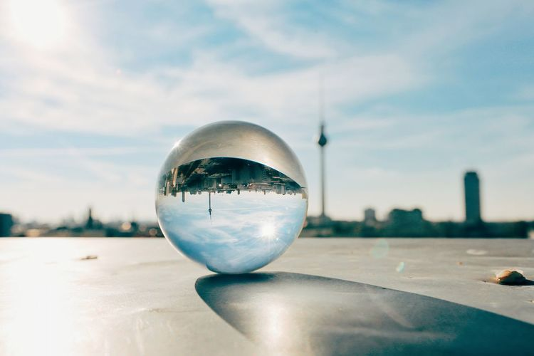 Sphere Cloud - Sky Reflection Futuristic Snow No People Tree Winter Sky Cold Temperature Illuminated Nature Sparse Planet Earth City Outdoors Close-up Beauty In Nature Day Cityscape EyeEm Best Shots Sunlight Eye4photography  City Berlin, Germany