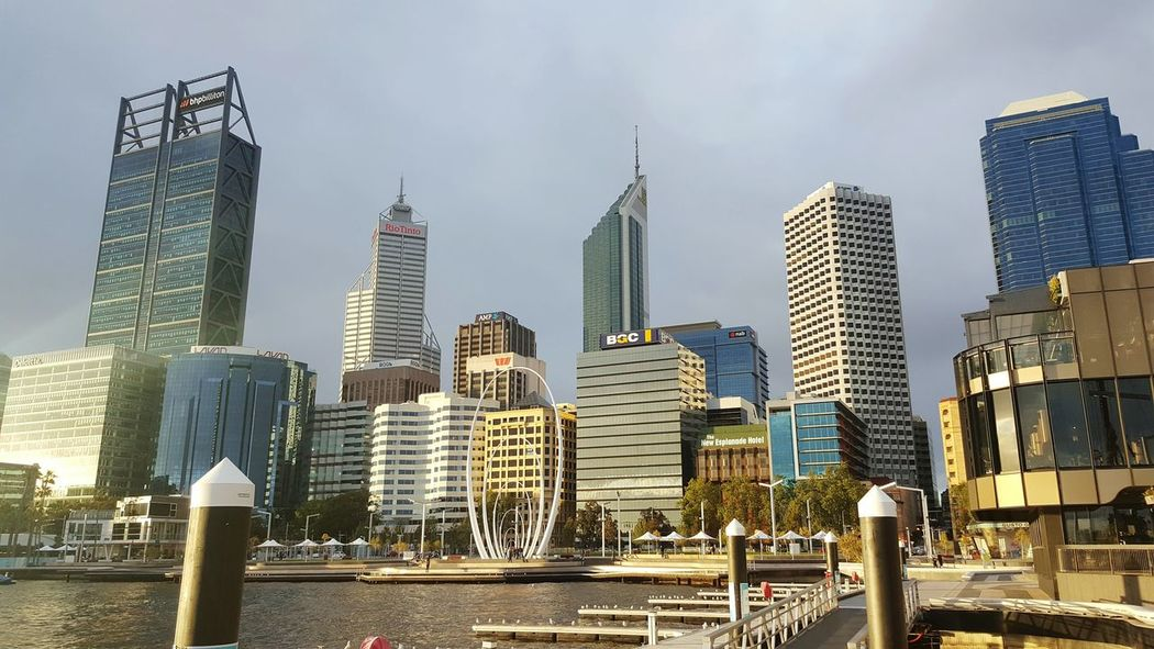 Perth Perthcity Perthlife Perth Australia Perth Skyline City Skyscraper Building Exterior Architecture Built Structure Office Building Modern Tall - High Cityscape Tall Tower Urban Skyline Sky City Life Water Financial District  Downtown District Outdoors Australia Summer