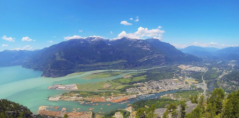 Hiked The Stawamus Chief up to Third Peak and made my way down to Second Peak where this photo was taken. An absolutely breathtaking view from the top, view is truly amazing in person and cannot to captured by photograph no matter how hard you try! StawamusChief Squamish The Chief Second Peak First Eyeem Photo