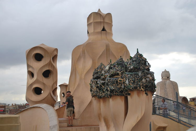 Architecture Art And Craft Barcelona Barcelona, Spain Casa Mila ( La Pedrera ) Casa Milà Gaudì Cloud - Sky Day Gaudi Human Representation Male Likeness No People Outdoors Place Of Worship Religion Sculpture Sky Spirituality Statue Statue