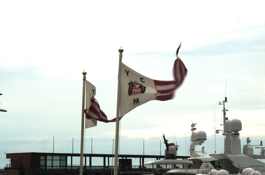 Day Flags In The Wind  Flying Flags No People Outdoors Sky Yacht Club De Monaco Ycm