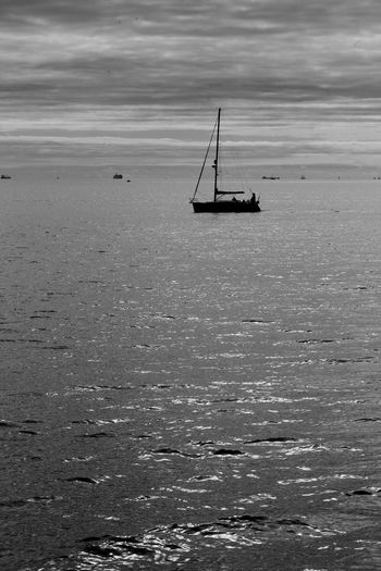 Not Sailing Black & White Eastney Eastney Beach Blackandwhite Cloud - Sky Day Horizon Over Water Nature Nautical Vessel Outdoors Sailboat Sea Sky Tranquility Transportation Water Waterfront