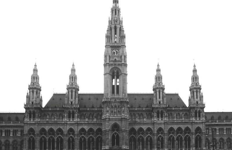 Blackandwhite Vienna Austria Tourism Monument Travel Destinations Travel Travel Photography Europe Architectural Detail Architecturelovers Streetphotography Buildings Symmetry Symmetrical Architecture Buildingstyles Architecture_collection Politics And Government City Cityscape Clock Government Architecture Building Exterior Built Structure Gothic Style Famous Place International Landmark National Monument