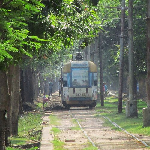 The Kolkata tram is a tram system in Kolkata, India , run by the Calcutta Tramways Company (CTC). It is currently the only operating tram network in India and the oldest operating electric tram in Asia, running since 1902. An attempt was made in 1873 to run a 2.4- mile (3.9 km) tramway service between Sealdah and Armenian Ghat Street on 24 February. The service was not adequately patronised, and was discontinued on 20 Nov. In 1880, the Calcutta Tramway Co. Ltd was formed and registered in London on 22 December. By the end of the nineteenth century the company owned 166 tram cars, 1000 horses, seven steam locomotives and 19 miles of tram tracks. During 1900, Electrification of the tramway, and reconstruction of tracks to 4 ft 8 1⁄ 2 in (1,435 mm) ……………………………………………………… Igramming_india @igramming_india _soi Oyemyclick India_91 Unique_india Unique_click Indianpictures Insta_indian Ig_photoflair Momentcapturerz Typographyindia Igersworldwide Ig_india Wu_india Ig_mumbaicity Gf_india @my_mumbai Photo_manicas Traveller_india Instamumbai Igramming_india Ig_Mumbai _oye India_gram India_incredible VagrantDiaries aamchimumbai myphotography phono_graphy exploringindia @repostindia repostindia @discover_india