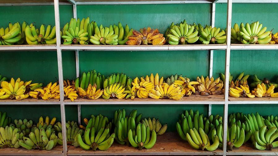 Bananas for sale at market stall