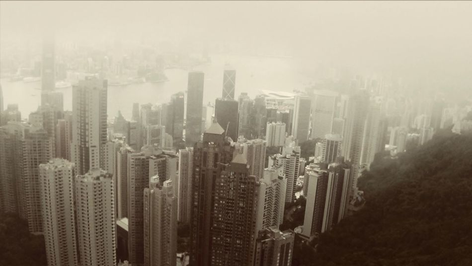 """Mist on the mountain"" Taken on Victoria Peak, Hong Kong Hong Kong Mist Mountain Great View The City Light"