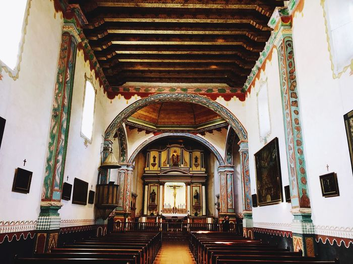 Take me to church Belief Religion Built Structure Architecture Indoors  Spirituality Place Of Worship Altar Architectural Column Building Ceiling Arch Architecture And Art Ornate Day No People Pew Aisle Mural My Best Photo