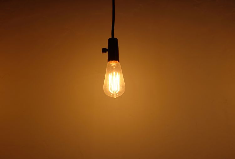 Illuminated Hanging Lighting Equipment Electricity  Light Bulb Glowing No People Light The Minimalist - 2019 EyeEm Awards