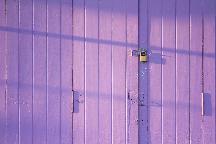Front View Of Lock On Door