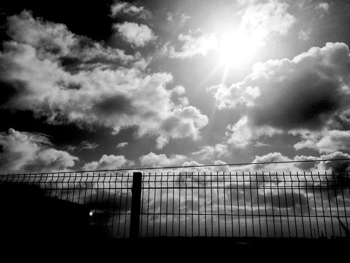 Black and white sky Sky Clouds Sun Blackandwhite