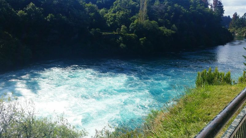 Water Motion No People Nature Outdoors Day Beauty In Nature River River View Huka Falls, NZ Blue Water Rapids River Peaceful Nature View New Zealand Scenery Waterfall Memories Holiday Spot Vacation Spot Lookout Viewing Platform
