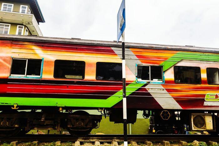 Local Train Srilanka Train Casual Shot From Inside The Car Enroute Mirissa