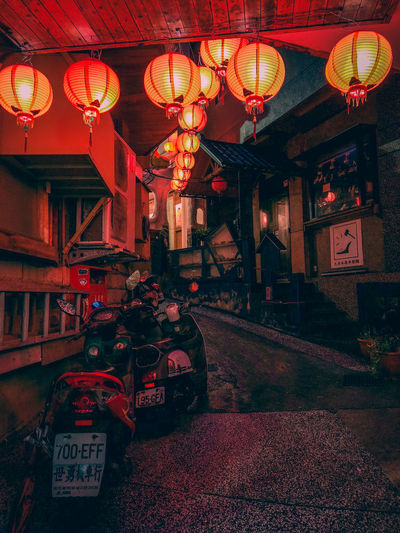 Japanese latern influence found in Taiwan's old street. Jiufen, Taiwan Jiufen Old Street, Taiwan Jiufen Taiwan Taipei,Taiwan Hanging Chinese Lantern Lantern Lighting Equipment Text Illuminated No People Communication Built Structure Chinese New Year Indoors  Celebration Night Architecture Eyeemphillipines Taipei EyeEmPhilppines EyeemPhilippines Travel Architecture