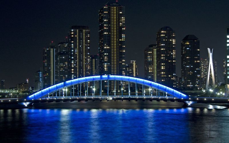 tokyo bridge Architecture Blue Bridge Bridge - Man Made Structure Built Structure Capital Cities  City City Life Cityscape Bettle Of The Cities Famous Place Illuminated Modern Night Office Building River Sky Skyscraper Tall - High Tourism Travel Destinations Urban Skyline Water Waterfront