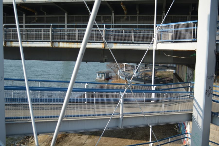Construction Architecture Steel River