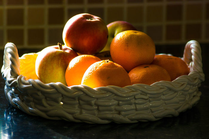 yes its a bowl of fruit Gazisonit Apple Bowl Of Fruit Orange Basket Bowl Fruit Orange Color Gazisonit Gary Coupland Food And Drink Food Freshness Healthy Eating No People Indoors  Close-up Day