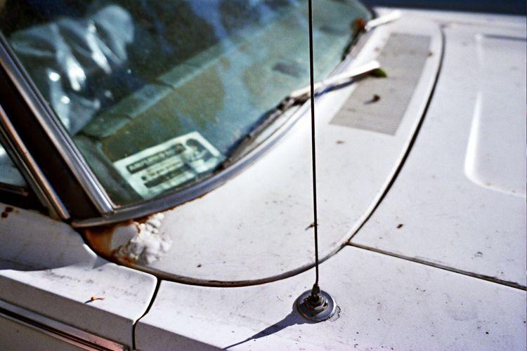 Car Antenna Close-up Portra800 No People Film Stationary Abandoned Klasse W Koduckgirl Car Outdoors Classic Car