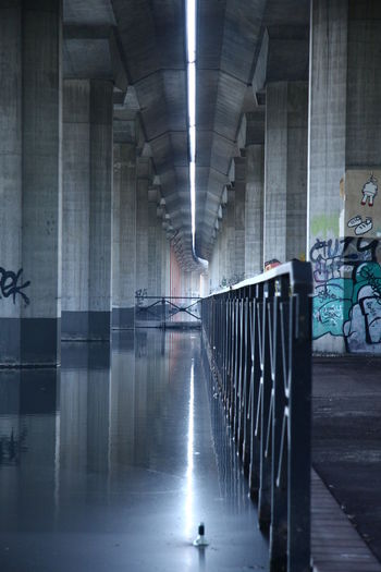 Architecture Bottle Bridge Columns Columns And Pillars Light And Shadow Water Water Reflections First Eyeem Photo